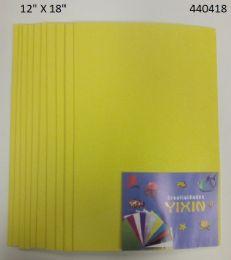 "48 Units of Eva Foam W/ Glue And Glitter 12""x12"" 10 Sheets In Yellow - Poster & Foam Boards"