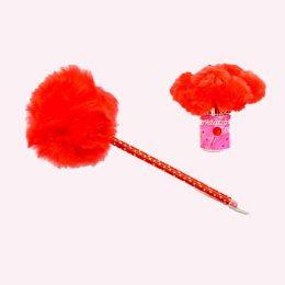 12 Units of FUR BALL PEN - Valentine Cut Out's Decoration