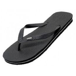 48 Units of Women's Rubber ZorI / Flip Flop ( *Black Only ) - Women's Flip Flops
