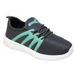 12 Units of Women's Fashion Sneakers In Grey And Teal - Women's Sneakers