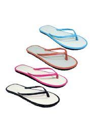 96 Units of casual tropical inspired flip flop - Women's Flip Flops