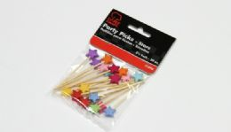 """72 Units of Party Picks, Stars - 20 Piece 2.50"""" - Party Paper Goods"""