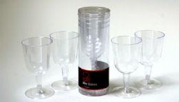 "36 Units of Plastic Wine Glasses - 4 Piece, 4-3/4"" - Plastic Tableware"