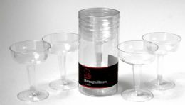 "36 Units of Plastic Champagne Glasses 4 Piece, 4-1/4"" - Plastic Tableware"