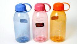 """24 Units of Plastic Water Bottle - 28 Oz, 8-1/4"""" - Sport Water Bottles"""