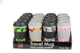 36 Units of Travel Mug Camouflage-PDQ - Coffee Mugs