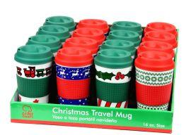 16 Units of Christmas Travel Mug 16 Oz - Coffee Mugs