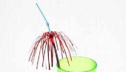 72 Units of Drinking Straw, Flexible, Palm Tree - Straws and Stirrers