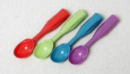 "72 Units of Ice Cream Scoop, Asst'd Colors 7 1/2"" - Plastic Serving Ware"