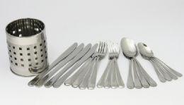 18 Units of 20 Piece Flatware Set + Holder - Kitchen Gadgets & Tools