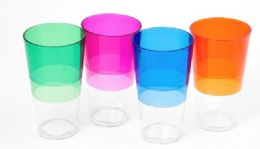36 Units of Tumbler 20oz, 4 Assorted Colors - Plastic Drinkware