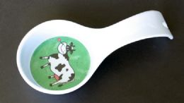 """72 Units of Spoon Rest, Melamine With Cow, 8"""" - Kitchen Gadgets & Tools"""