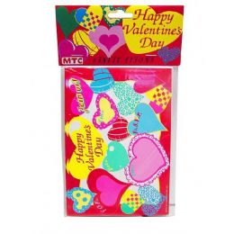 144 Units of happy valentine 8 pack invitations/envelopes - Valentines