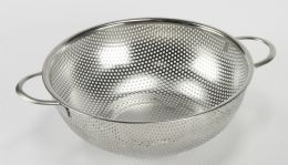 """12 Units of Stainless Steel Colander 8.50"""" Diameter - Strainers & Funnels"""
