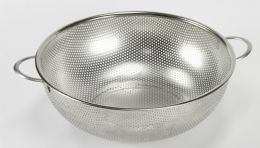 """12 Units of Stainless Steel Colander 11"""" Diameter. - Strainers & Funnels"""