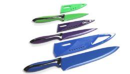 24 Units of Knife with/Sheath 3 Piece. Set - Kitchen Knives