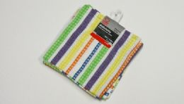 "36 Units of Dishcloth, 2 Piece- Striped Pattern 12.50"" square. - Kitchen Towels"