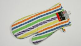 "36 Units of Oven Mitt - Striped Pattern 11.50"" - Oven Mits & Pot Holders"