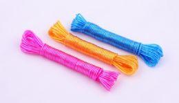 72 Units of Clothesline, Plastic - 33 Ft. , 3 Colors - Clothes Pins