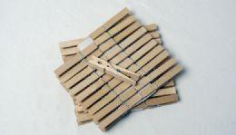 """36 Units of Wood Clothes Pins, 40 Pieces 3"""" - Clothes Pins"""