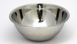 24 Units of Mixing Bowl, Stainless Steel Brushed exterior - 8 Qt. - Baking Supplies