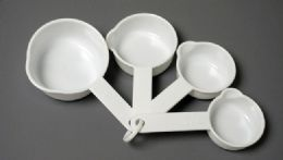 72 Units of Measuring Cups, 4 Piece White Cup / ml - Measuring Cups and Spoons