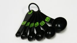 72 Units of Measuring Spoon 6 Piece - Green & Black - Measuring Cups and Spoons