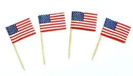 72 Units of Toothpicks - Usa Flags, 50 Piece - Toothpicks