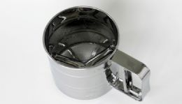 "12 Units of Flour Sifter, Stainless Steel, 3-cup - 4"" Diameter. - Baking Supplies"