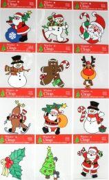 72 Units of Christmas Window PVC Cling - X-MAS