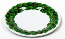 "24 Units of Plate 8"" -Christmas, Round - X-MAS"