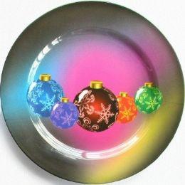 "24 Units of Plate 13"" Multi-color Ornament - Christmas Ornament"