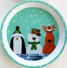 "24 Units of Penguin, Snowman, & Deer Tray 11.75"""