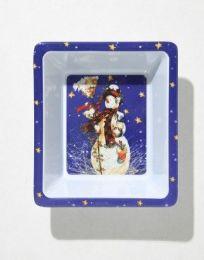 "24 Units of Christmas Dish - Snowman, 5 x 6"""
