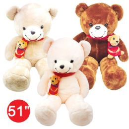 "4 Units of 51"" Teddy Bear With Scarf - Valentines"