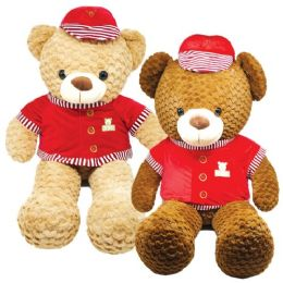 "6 Units of 39"" Bear With/Hat And Clothing - Valentines"