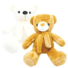 "12 Units of 22"" Teddy Bear With Scarf - Valentines"