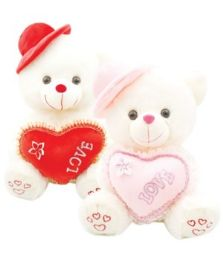 "6 Units of 20"" Bear With/Heart+Hat - Valentines"