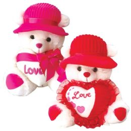 6 Units of Twenty Inch Bear With Heart - Valentine Decorations