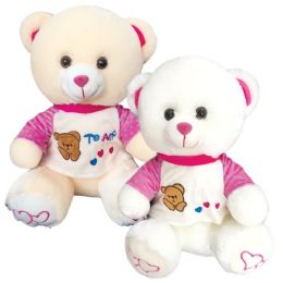 12 Units of Sixteen Inch Bear With Clothing Te Amo - Valentine Decorations