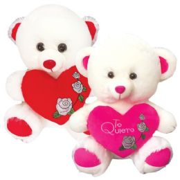 12 Units of Sixteen Inch Bear With Heart - Valentine Decorations