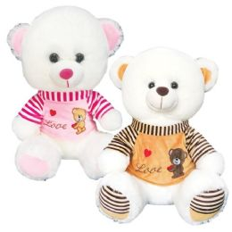 12 Units of Twelve Inch Bear With Clothing - Valentine Decorations