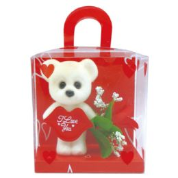 48 Units of Valentine Box With Bear and Flower - Valentine Decorations