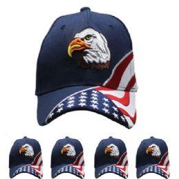 12 Units of Eagle Baseball Cap - Baseball Caps & Snap Backs