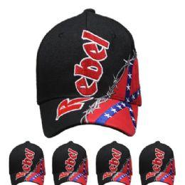 24 Units of Rebel Baseball Cap - Baseball Caps & Snap Backs