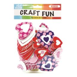 144 Units of EVA Foam Heart - Valentine Cut Out's Decoration