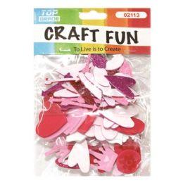 96 Units of EVA heart Glitter - Foam & Felt