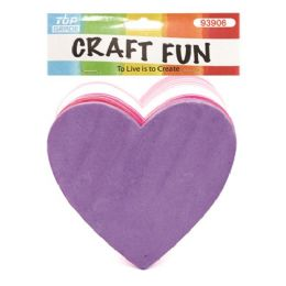 60 Units of Thirty Count Eva Foam Heart Craft Fun - Valentine Cut Out's Decoration