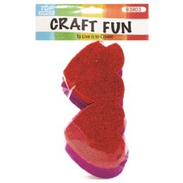 144 Units of EVA Double Heart Craft Fun - Valentine Cut Out's Decoration