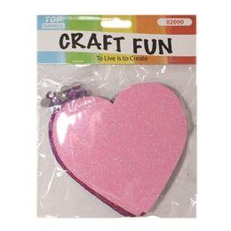 144 Units of EVA Foam Heart Craft Fun - Valentine Cut Out's Decoration